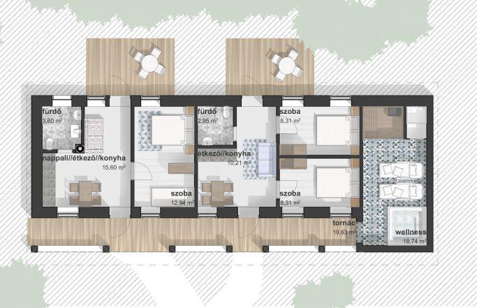 Magyarnándor – lakóház átalakítási koncepciók